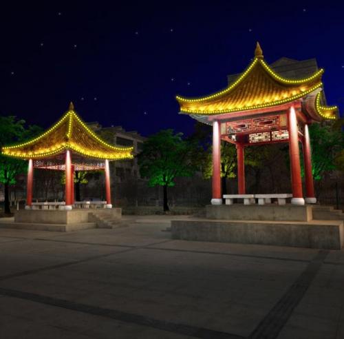 泰安古建筑群亮化工程